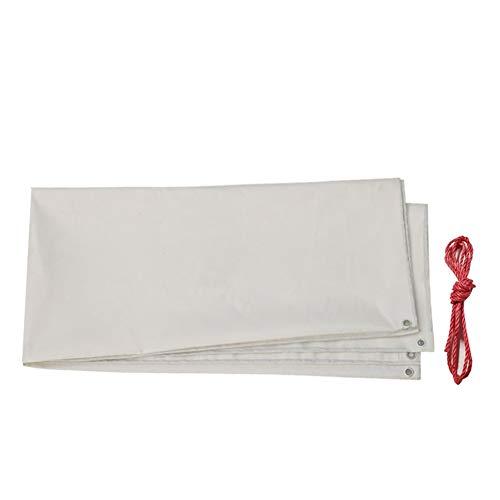 QIANGDA Tarpaulin Tent Shelter Tarp Cover PVC Rectangle Pool Protection Sheet Thicken Rainproof - White 500gm² Size  19mx49m