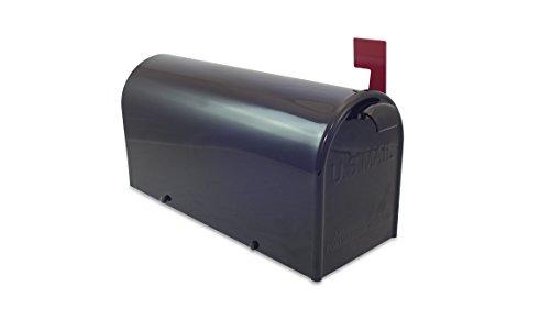 Lazy Hill Farm Designs 999198 Bristol Mailbox Hand Fabricated Black 10-Inch High by 8-Inch Wide by 21-Inch Depth