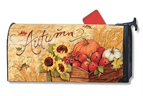 Mailwraps Autumn Cart Mailbox Cover 01223