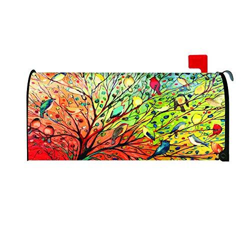 Toland Home Garden Tree Birds Decorative Mailbox Cover