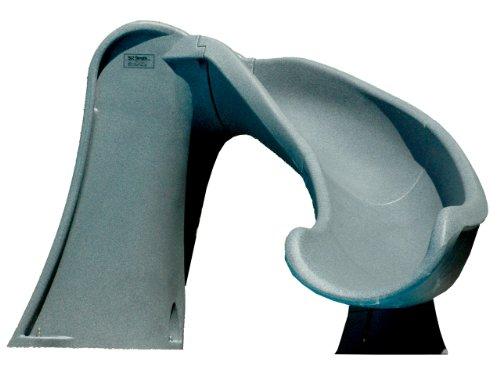 Sr Smith 698-209-58124 Cyclone Right Curve Pool Slide Gray Granite