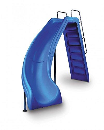 Wild Ride In-Ground Pool Slide- Blue Left Curve