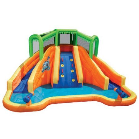 Swimming Poolsamp Waterslides For Kids Banzai Twin Falls Lagoon 168&quotl X 1110&quotw X 84&quoth Inflatable Water Slide