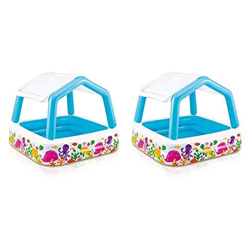 Intex 52ft x 52ft x 48in Inflatable Ocean Scene Sun Shade Kids Pool 2 Pack