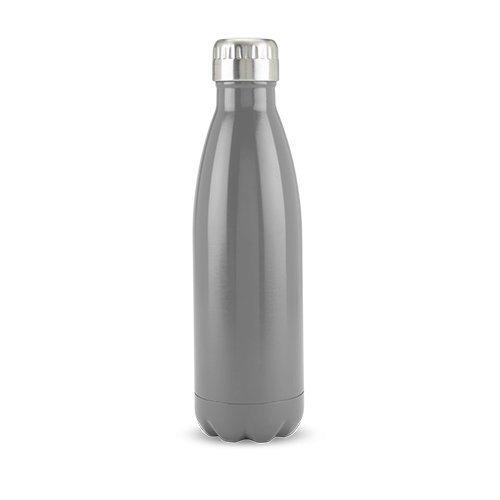 True Decor Sports Water Bottle Grey Double Walled Stainless Steel Insulated Water Bottle