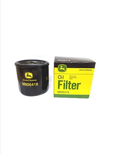 M806418 John Deere Oil Filter 1023E 1025R 1026R 2210 4010755 HPX-DIESEL GATOR455 LAWN MOWER X495 X740 X748 and 1435 FRONT MOWER