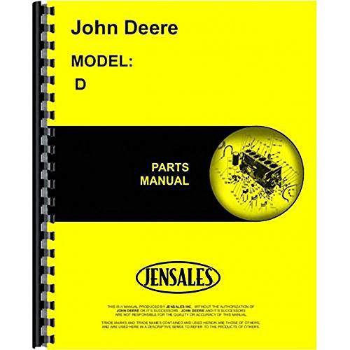 New John Deere D Tractor Parts Manual