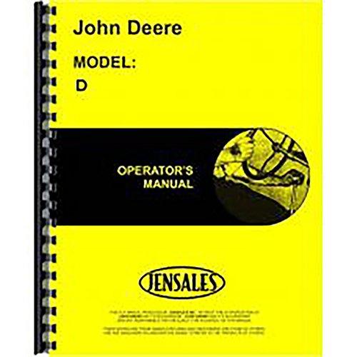 New for John Deere D Tractor Operators Manual