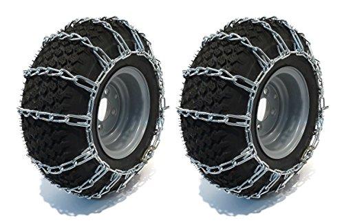 The ROP Shop 15x6-6 Tire Chains 2 Link for John Deere D L LT LTR STX Series Lawn Mower Tractors