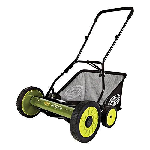 Sun Joe MJ501M Manual Reel Mower wGrass Catcher  18 inch