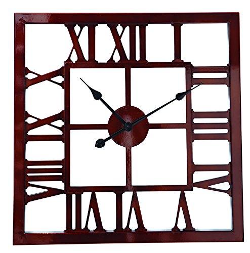 Split P Square Wall Clock Bronze
