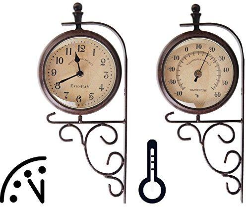 Esschert Design Plastic Double Sided Outdoor Clock