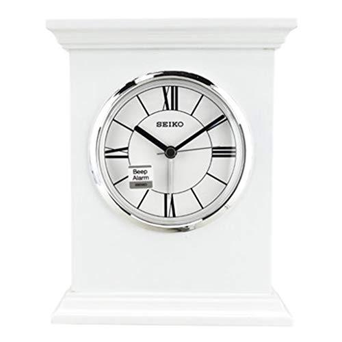 DQMSB European Retro Elegant Wooden Small Table Clock Sitting Clock Simple Bedroom Clock Color  B