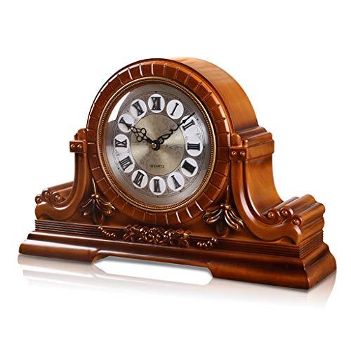 DQMSB Resin Material Clock European Clock Retro Retro Clock Living Room Table Clock Bedroom Decoration Fashion Mute Clock Creative Clock Clock