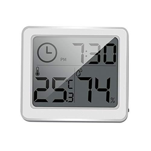 Digital LCD Thermometer Hygrometer Humidity Meter Indoor Temperature Display Gauge °C  °F Table Clocks Battery Powered Tools for Humidors Greenhouse Garden Cellar Fridge Closet 1pcs