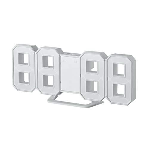 Monllack Multi-use 8 Shaped LED Display Desktop Digital Table Clocks Thermometer Hygrometer Calendar Weather Station Forecast Clock