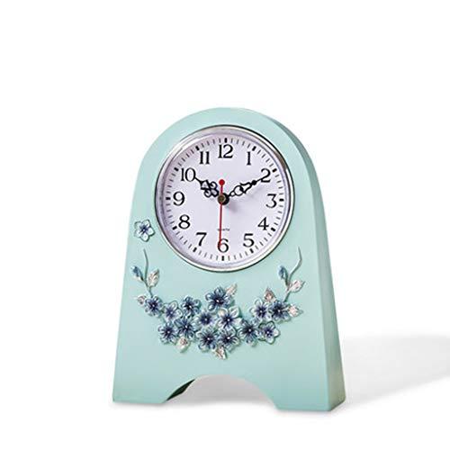 DQMSB European Cute Minimalist Sitting Clock Silent Desktop Small Clock Creative Bedroom Bedside Decorative Clock