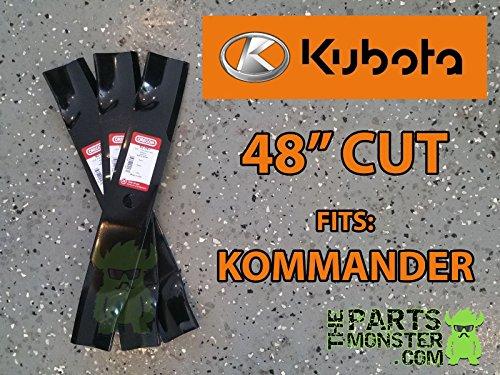 3 Pack Mower Blades Kubota Kommander 48&quot K5575-34330 K5575-97530 Zg2048 hj7-545mki94 G1560981