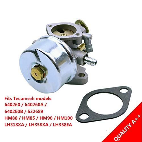 FLYPIG Carburetor for Tecumseh 640260 640260A 640260B 632689 HM80 HM85 HM90 HM100 LH318XA LH358XA LH358EA Engines Lawnmower Snow Blower