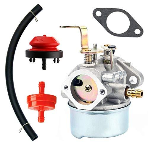 QAZAKY Carburetor with Gasket Fuel Filte Line for Tecumseh 640260 640260A 640260B 640269 632689 HM80 HM85 HM90 HM100 LH318XA LH358XA LH358EA 8Hp - 10Hp Generator Lawnmower Snowblower Tiller Chipper