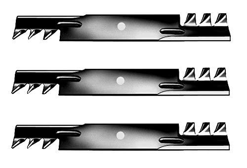 Gator Mulching Blades 3 pcs 52 Deck Rotary 785436 for Hustler Raptor Raptor Fastrak Hustler Z Mini Z Super Mini Z Super Z