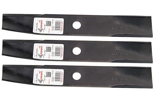 3 Rotary&reg Lawn Mower Blades Fit Toro&reg Wheel Horse 106077 117192 106636 50-1535 42&148 Side Discharge 36&148 Rear Discharge