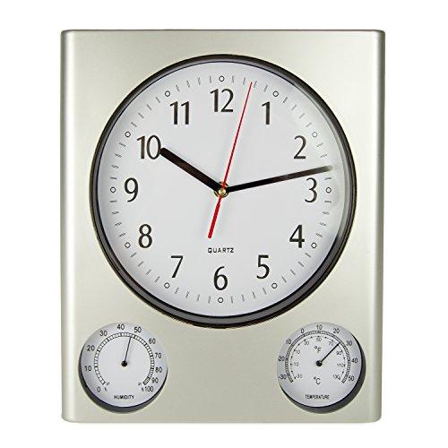 Poolmaster 52602 ClockThermometer Hygrometer - Silver