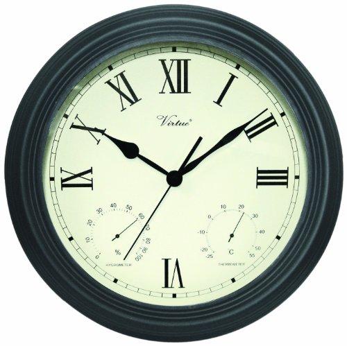 Poolmaster 52605 12 ClockThermometer Hygrometer - Black