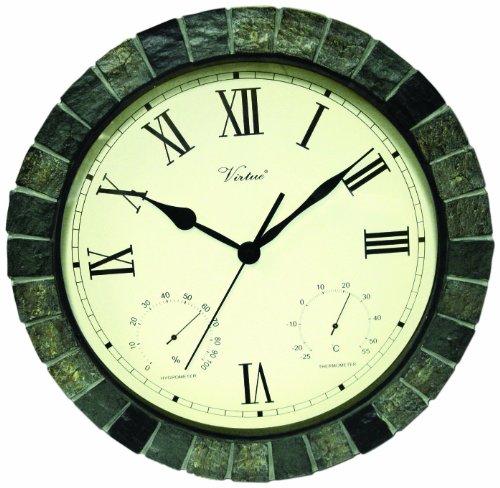 Poolmaster 52606 15 ClockThermometer Hygrometer - Faux Stone