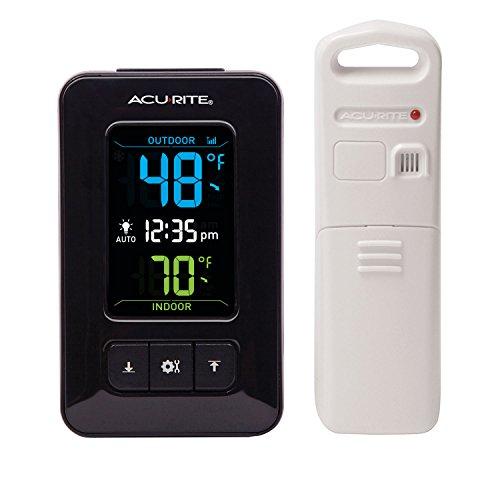AcuRite 02023 Digital IndoorOutdoor Thermometer with Clock