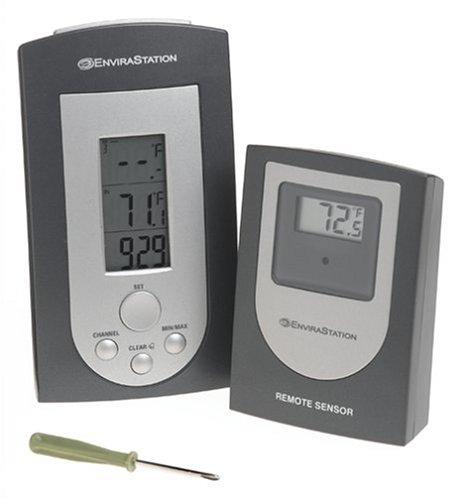 Homedics Dws-130 Wireless Indooroutdoor Digital Thermometer And Clock Gun Metalsilver
