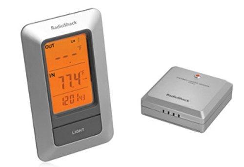 Indooroutdoor Thermometer With Digital Clock