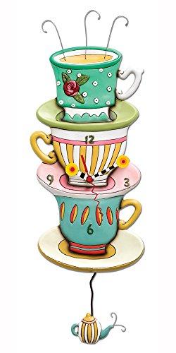 Allen Designs Spot of Tea Pendulum Clock