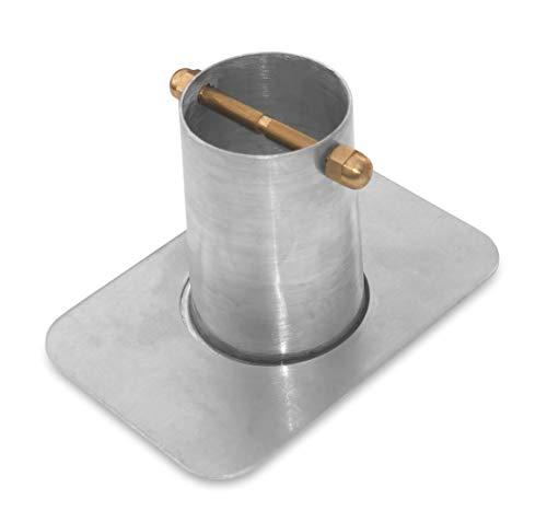 Monarch Rain Chains 18041 Rain Chain Installation Standard 2-Piece Aluminum Gutter Adaptor with Brass Bolt Adapter Mill Finish