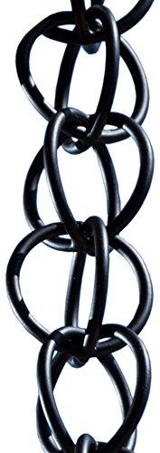 Monarch Rain Chains 28505 Coated Monarch Ring Rain Chain 8-12-Feet Length Aluminum Flat Black Powder