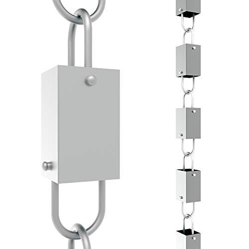 Rain Chains Direct Square Link Rain Chain Aluminum 85 FT