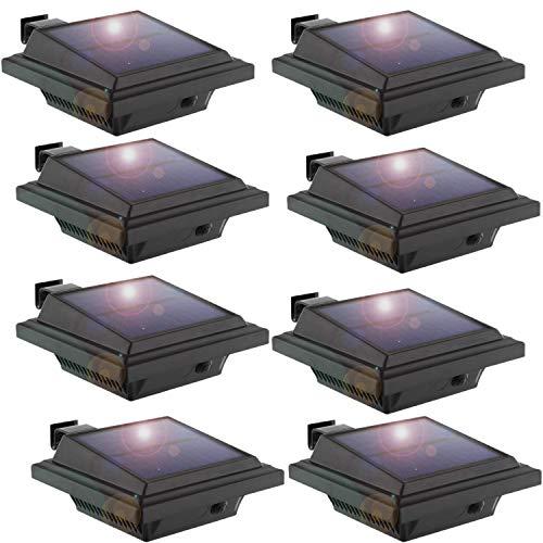 Solar Gutter LightLED Gutter Light40 LEDs2WLight SensingBlackCold White Light Set of 8PcsBlack