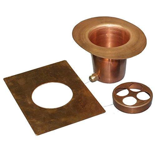 Monarch Rain Chains 12015 3-Piece Rain Chain Installation Kit Gutter Adapter Set Pure Copper