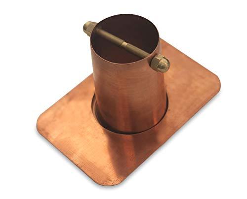 Monarch Rain Chains 18040 2-Piece Pure Copper Rain Chain Installation Gutter Adaptor with Brass Bolt Standard Adapter