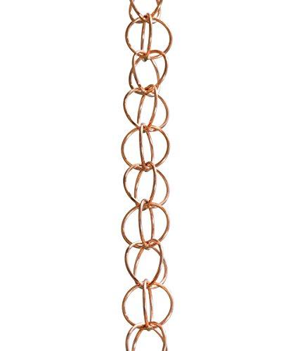 Monarch Ring Rain Chain 8-12-Feet Length Pure Copper