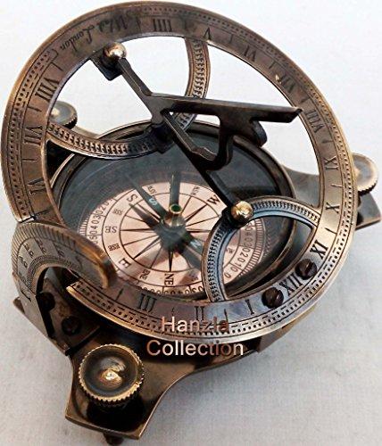 4 West London Brass Sundial Compass ~ Vintage Maritime Antique Brass Compass