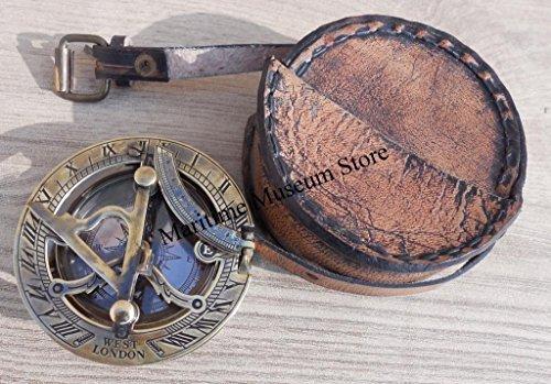 Handmade Brass Sundial Compass - Pocket Sundial -brass Antiques West London Beautiful Gift Item C-3058