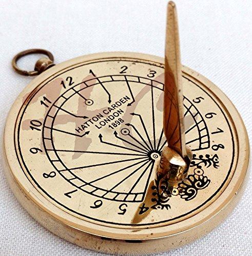 Nautical Brass Sundial HATTON CARDEN LONDON 1898