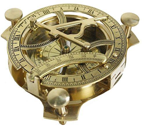 STREET CRAFT 4 Sundial Compass - Solid Brass Sun Dial Sundial
