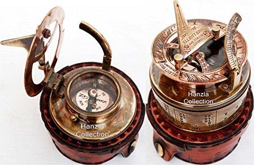 Vintage ELLIOTT BRO Brass Sundial Compass~STRAND LONDON Antique Pocket Sundial