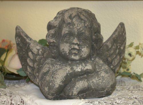 Concrete Garden Winged Angel Statue Doorstop