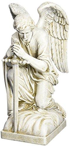 Joseph Studio 40007 Tall Male Angel Kneeling With Sword Garden Statue 1325-inch
