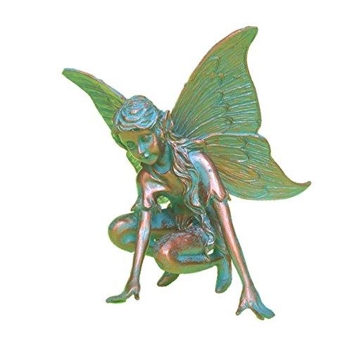 Homestyles Butterfly Fairy Figurine 96202 Garden Statue Bronze Patina