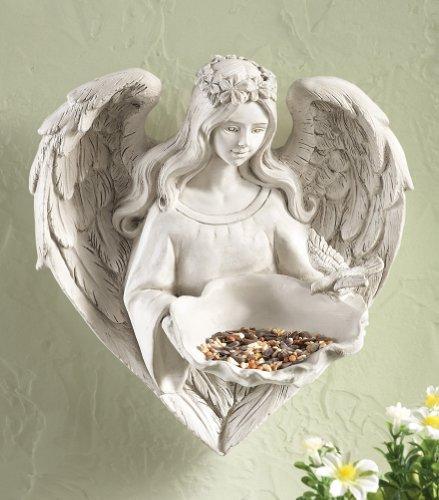Sweet Angel Wall Mount Bird Feeder Sculpture