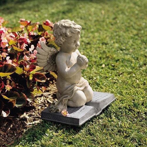 A Cherubs Prayer Statue Design Cherub Sculptures Garden Cherubs